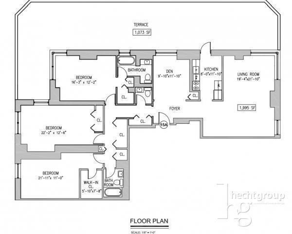 upper west 3 bedroom no fee luxury condo