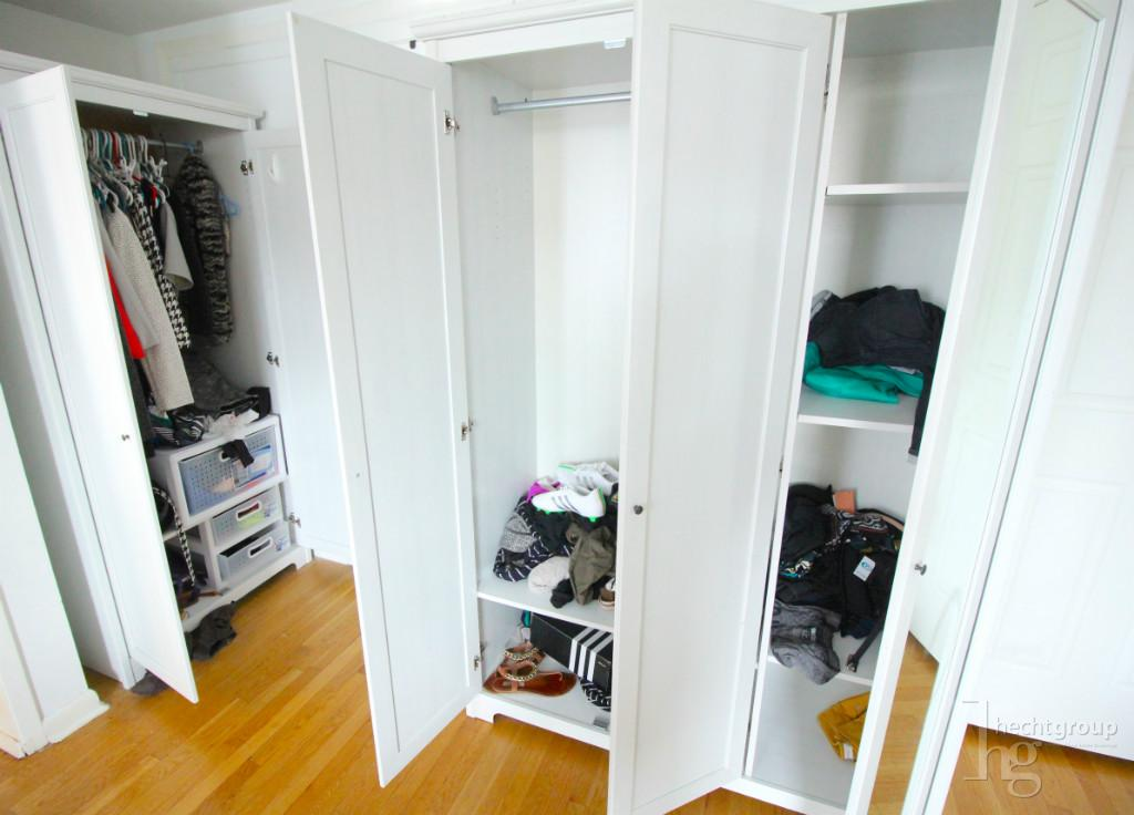 Space for closets and dressers