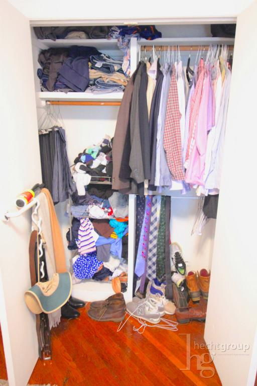 Living room walk-in closet