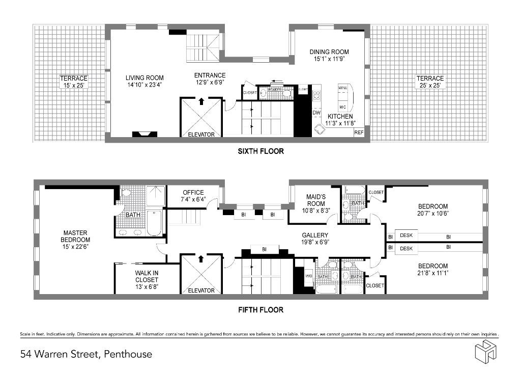 Apartment for sale at 54 Warren Street, Apt PH