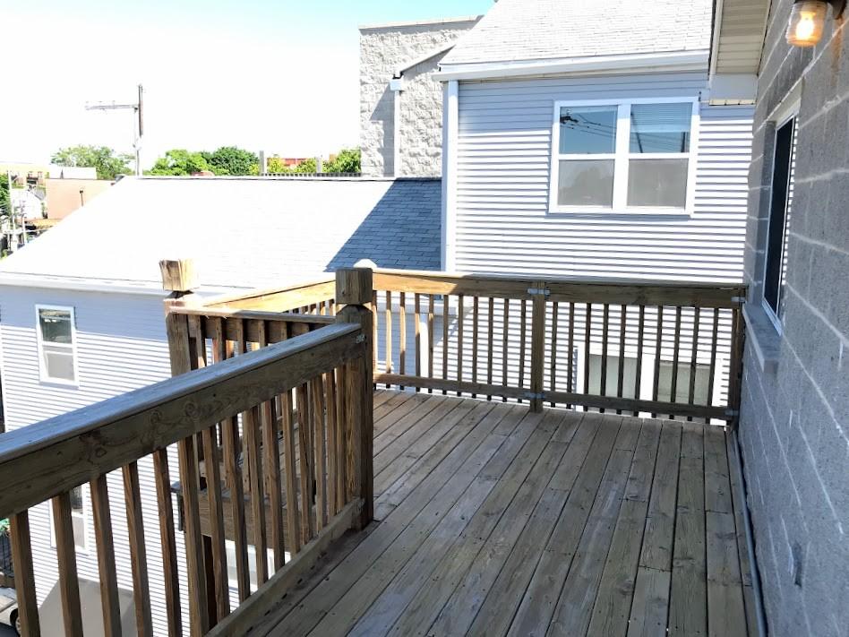 Rear deck off of Sm. Bedroom