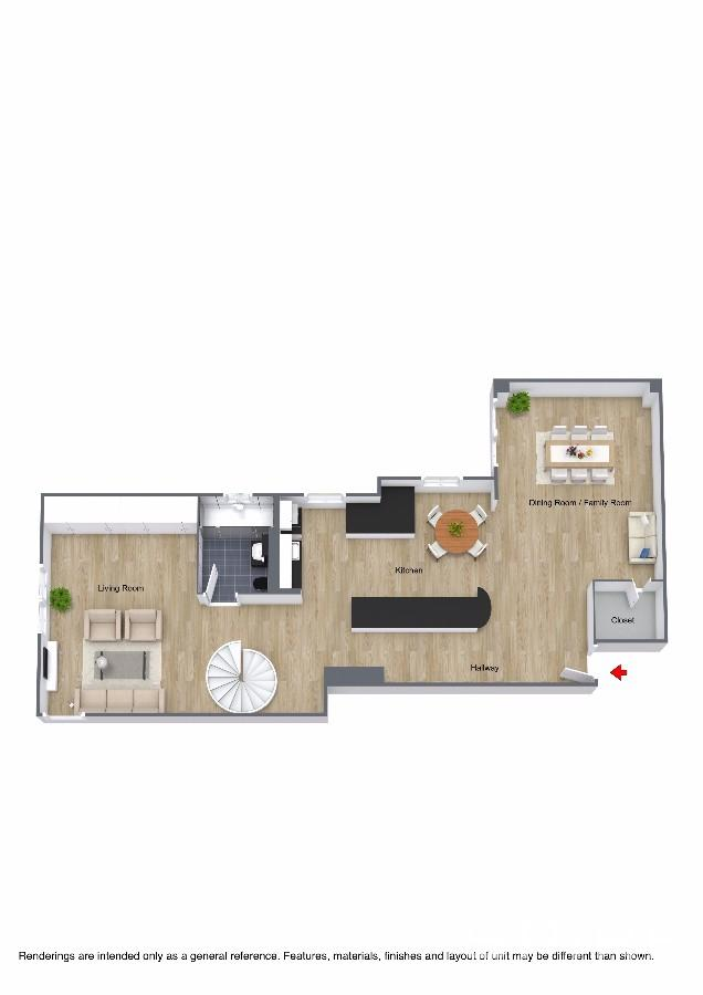 1st Floor 3D Floor Plan