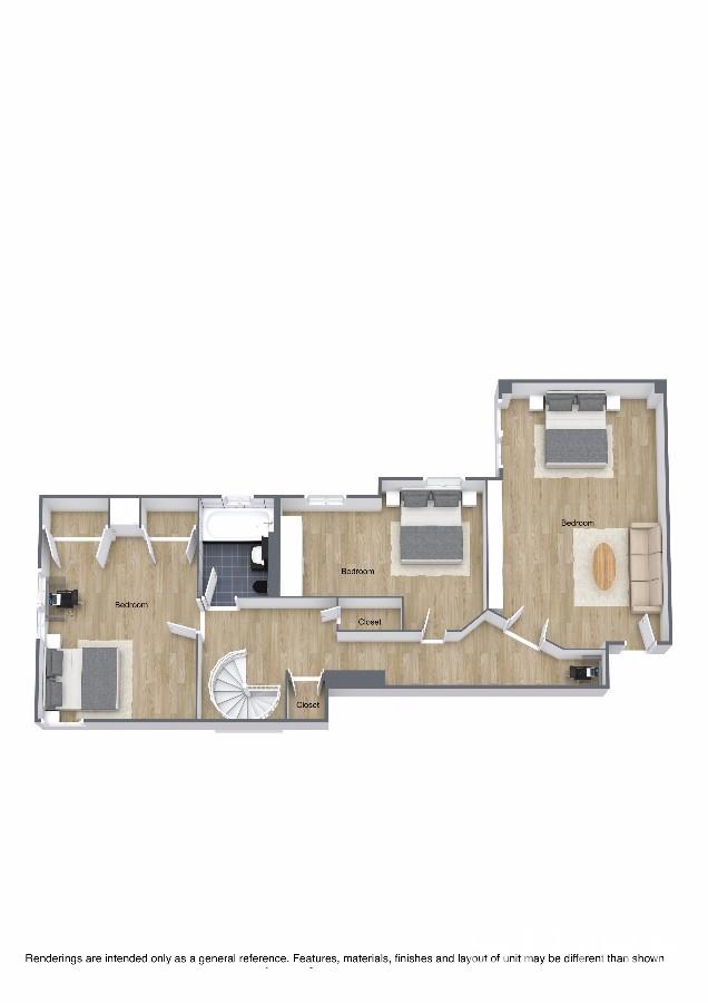 2nd Floor 3D Floor Plan