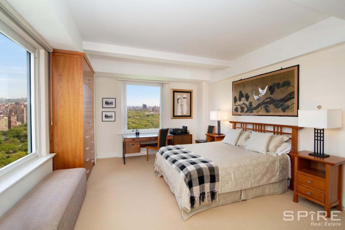 Bedroom windows views N E & W