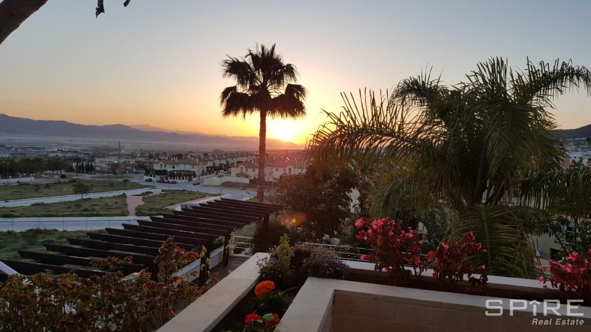 Sunrise over the Sierra De Mijas Mountains