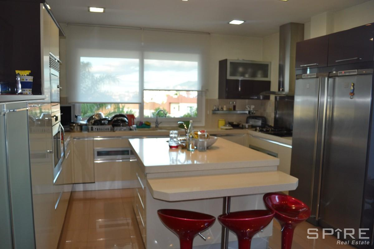 Stainless Steel and Italian Marble Kitchen
