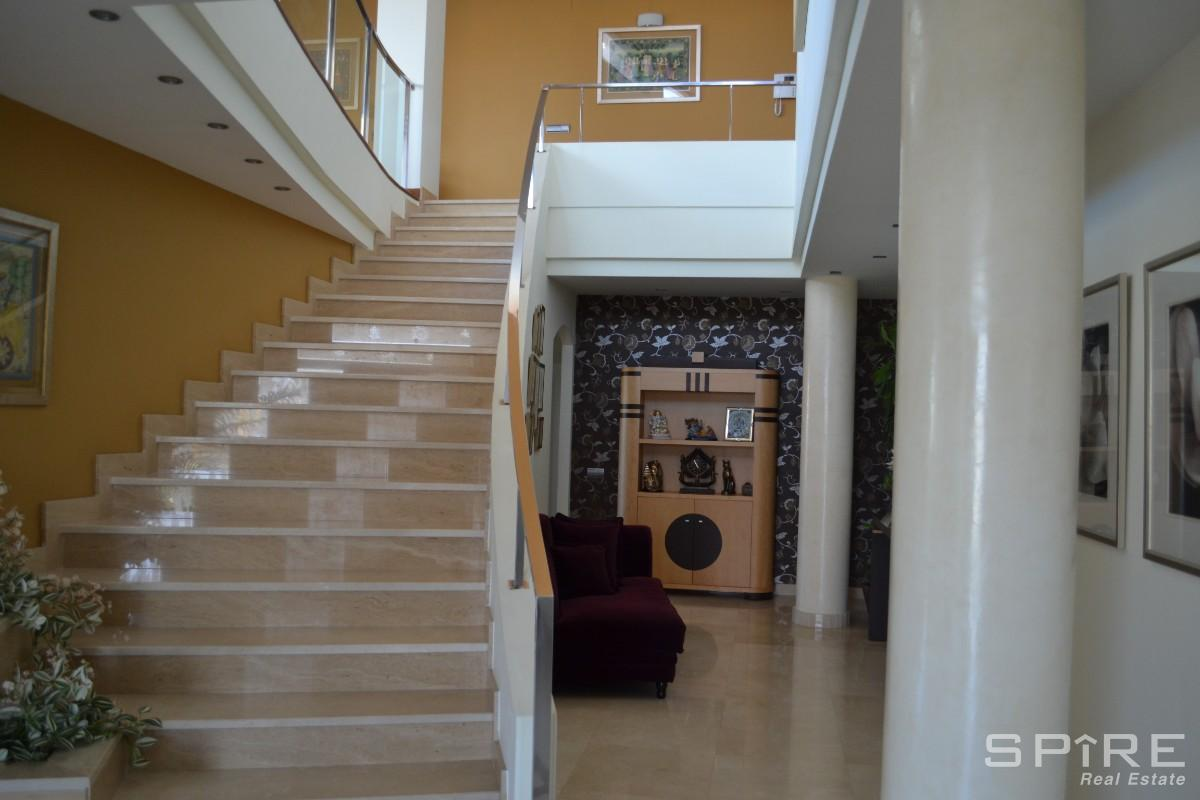 Italian Marble and Stainless Steel Staircase