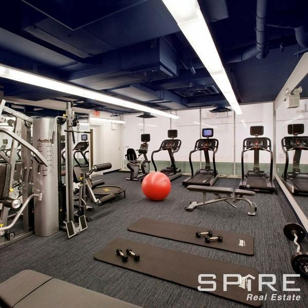 Fitness Center with Cardio Deck  Free Weights