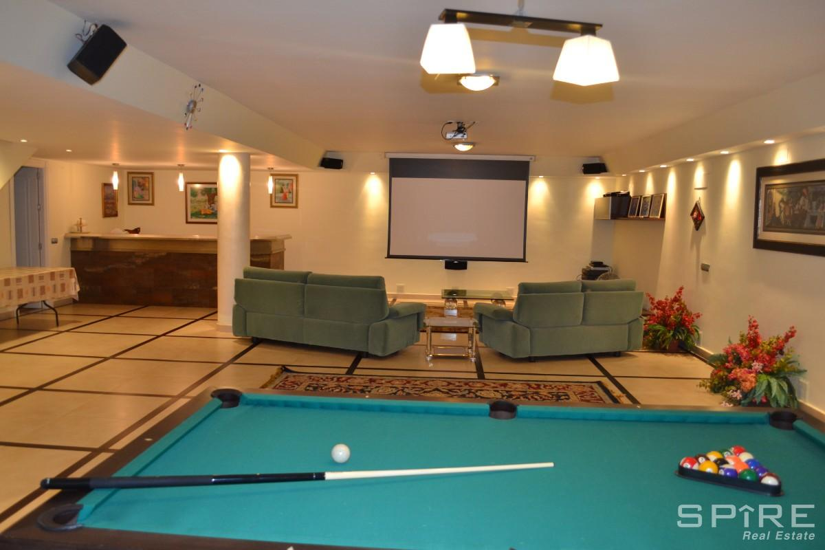Game Room with Billiards Table and  Home Cinema