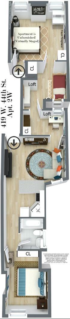 Floorplan (Virtually Staged)