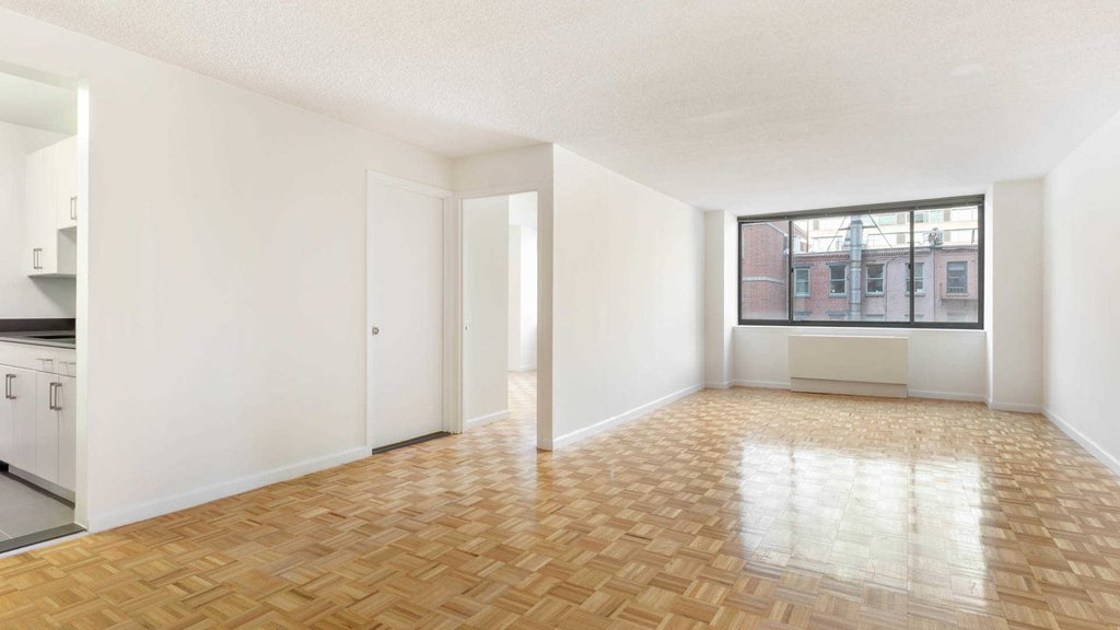 Living Room with Parquet Flooring