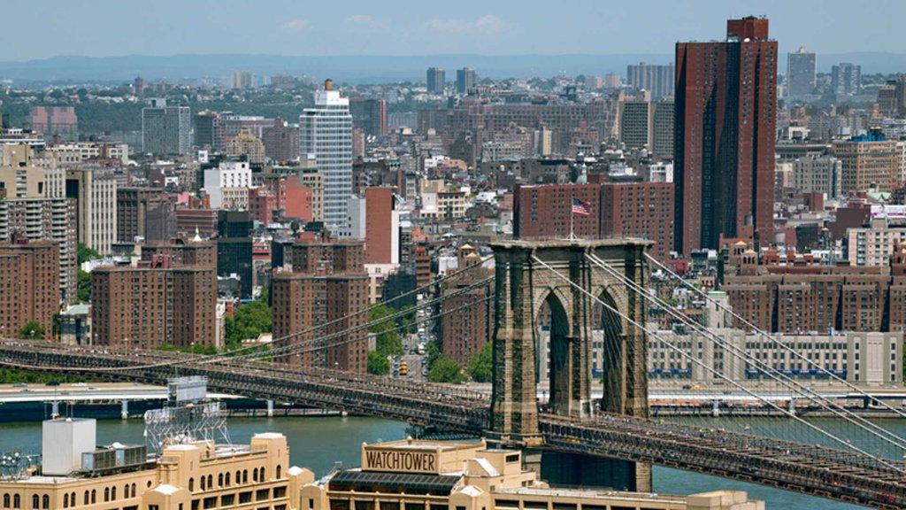 View of Brooklyn Bridge and Manhattan