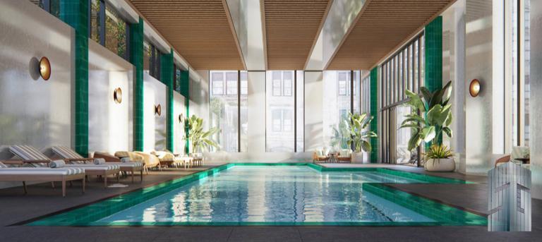 75-Foot Indoor Saltwater Lap Pool