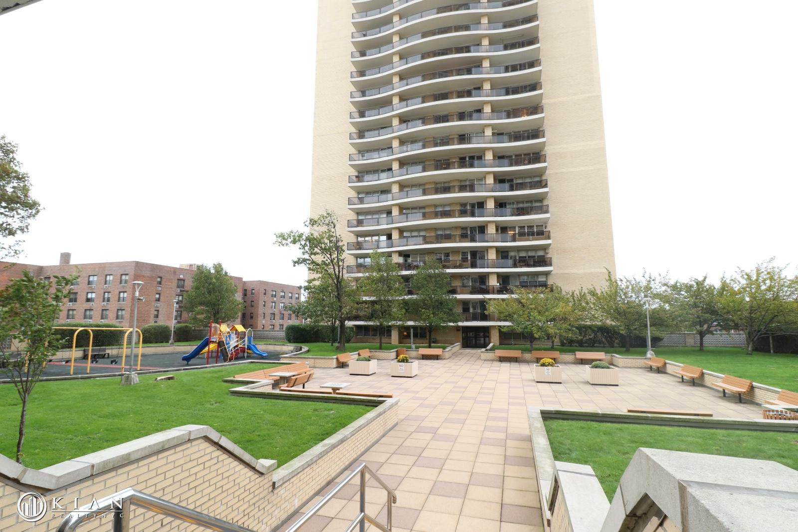 Courtyard with playground
