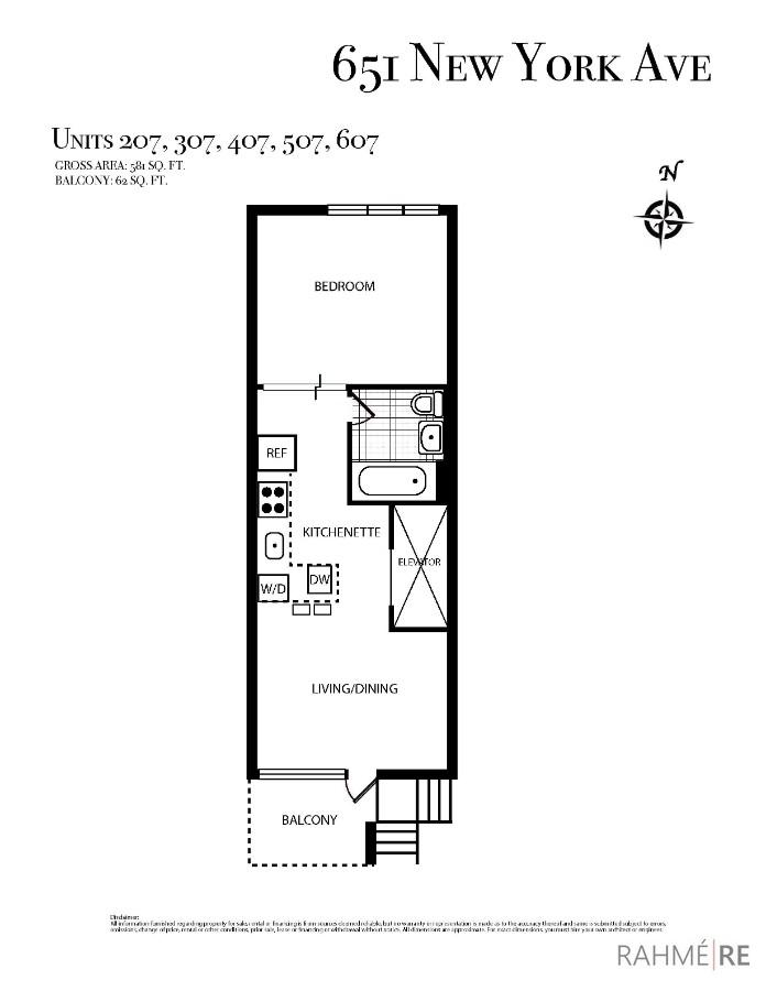 651 New York Ave #607 Floor Plan