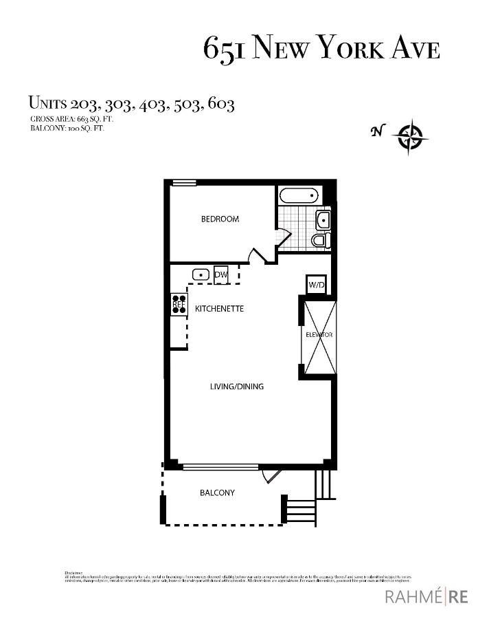 651 New York Ave #503 Floor Plan