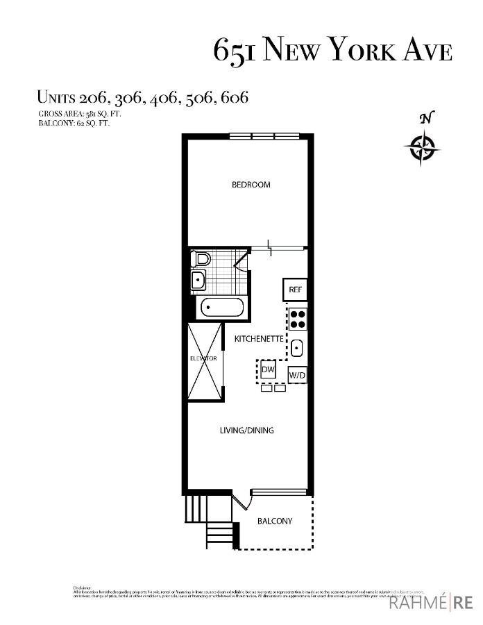651 New York Ave #406 Floor Plan
