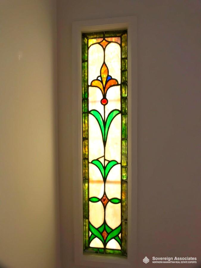 1 of 2 original stain glass windows