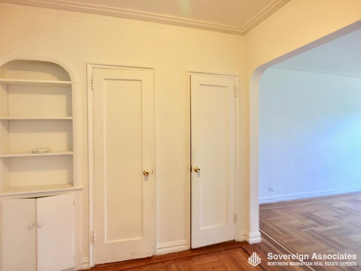 Foyer with Built-in Shelves
