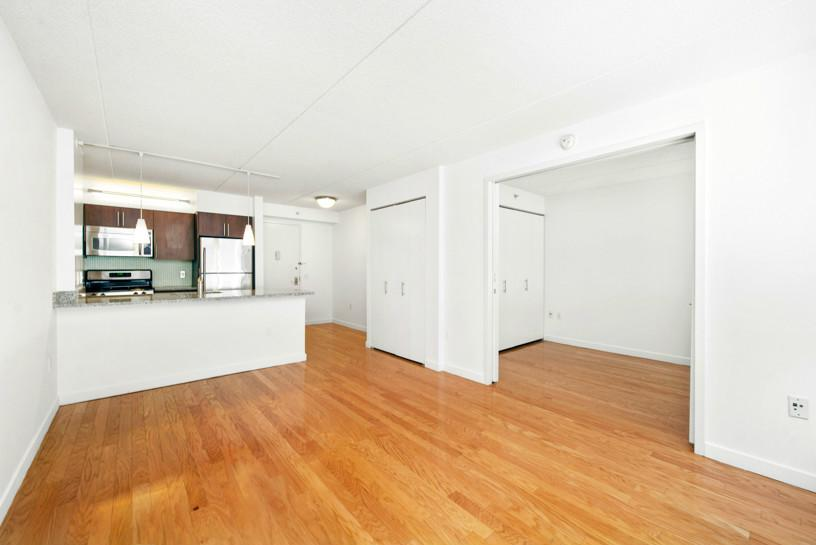 Available form 01.01.2019When you rent in NYC, its all about location!This one-bedroom is near all the best that New York City has to offer and is located right next to the Highline, Chelsea Piers and the West Side running path along the Hudson. Enter the apartment to a foyer which leads to a large chef's kitchen with dishwasher, granite countertops, stainless steel appliances, and a breakfast bar layout which opens into the living room that shines bright with natural light through oversized windows. Views from both the bedroom and living room overlook the beautifully manicured, 9,000 square foot courtyard and fountain. The modern bath features high-end finishings with sleek Danze fixtures and Juparauna Vyara granite. Hardwood floors throughout complete the home. The building is a full-service, luxury condo designed by the creators of the Hotel Gansevoort and Library Hotel, and your amenities here, which include laundry service, will make your home feel like hotel living every day. Other building amenities include a 24-hour doorman and concierge with package room, club lounge, landscaped courtyard, valet with on-site parking, and a brand new, state-of-the-art, 2,000 square foot fitness center that features cardio theater. The building also features a contemporary water wall in the lobby and an enclosed garden.