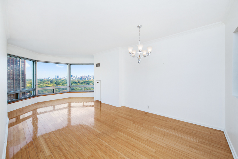 Available July 1st 2019, Two years minimum lease.Spacious 1 bedroom unit located near Columbus Circle, mere minutes away from the subway and the Time Warner Center. Situated on a high floor, it provides floor to ceiling windows in the living room overlooking Central Park. Incredible Central Park views. Bamboo flooring throughout the unit and fully renovated kitchen. High 9 ft high ceilings. Washer/dryer in unit making it functional and practical.  Central Park Place is a full service luxury condominium, with a full-time doorman and concierge, indoor pool and sauna, healthy club, outdoor terrace, laundry room, live-in super, storage units, bicycle storage and guest rooms. Sorry, no pets. The buildings location allows you to explore the city. A short walk to Broadway, or the Theater District, you can go to Lincoln Center to experience the Opera, Ballet, or the Philharmonic. And Carnegie Hall is just down the street.