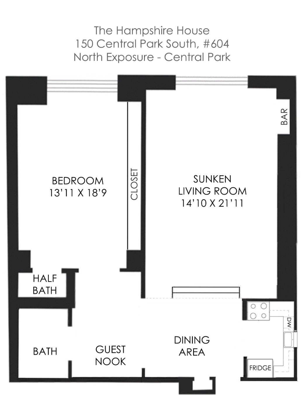 Apartment for sale at 150 Central Park South, Apt 604