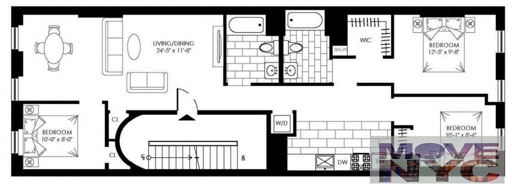 3 Apartment in Carroll Gardens