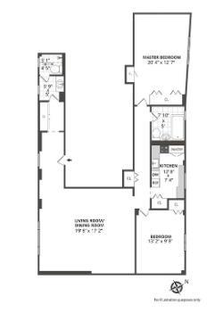 ORIGINAL TWO BEDROOM PLAN