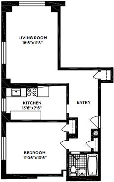 Original Floorplan-Open Kitchen and 2nd Bed now
