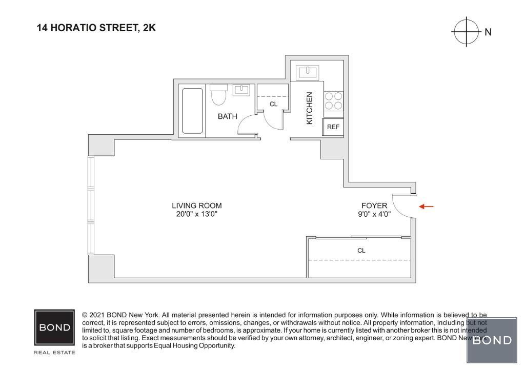 14 Horatio Street W. Greenwich Village New York NY 10014