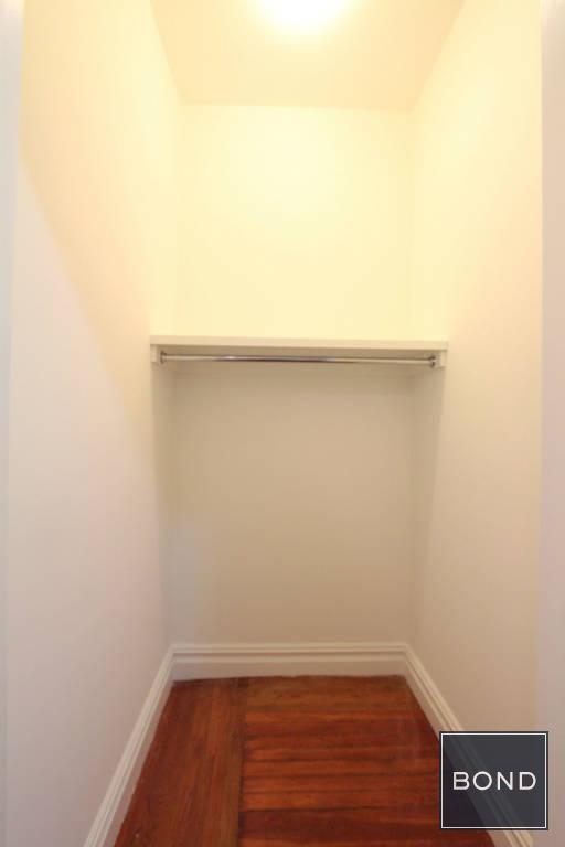 walk-in coat closet